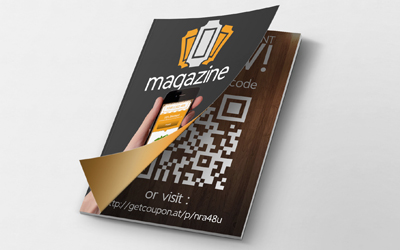 Magazine with QR code and mobile coupon